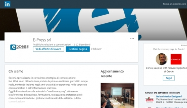 E-Press apre la sua finestra in Linkedin